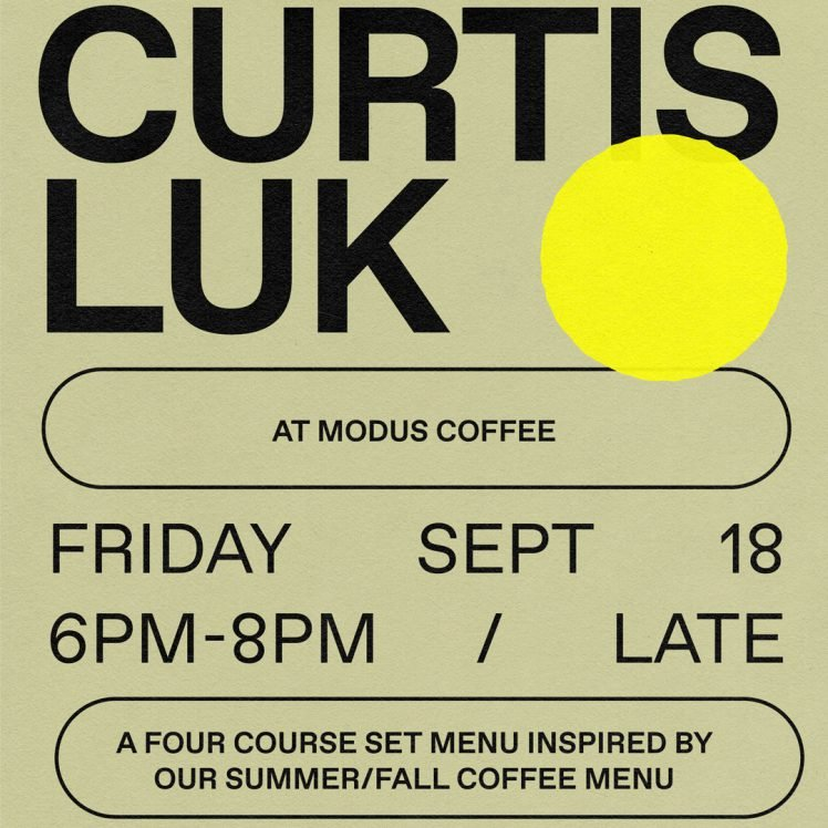 Curtis Luk for Modus coffee